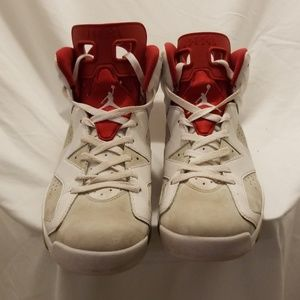 White/Red/Grey Air Jordan Spike Forty Size 12